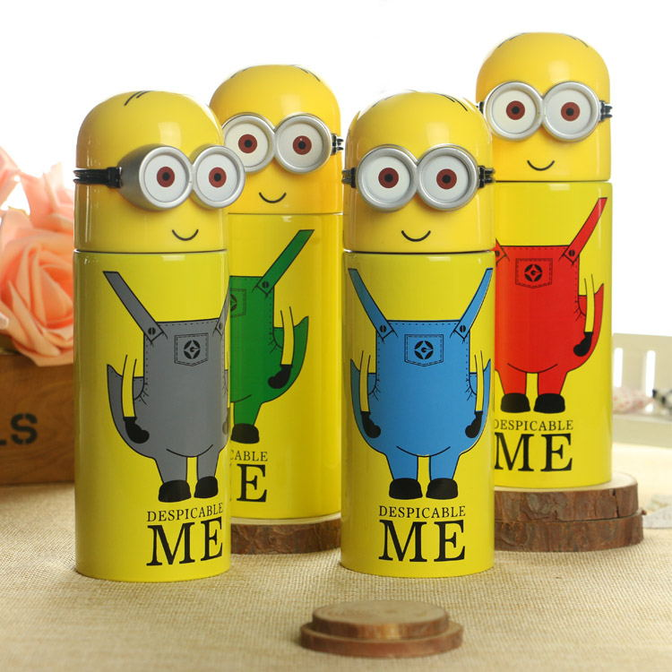 Hot Sale Minions Termo Mug Thermos Vacuum Cup Cute Water