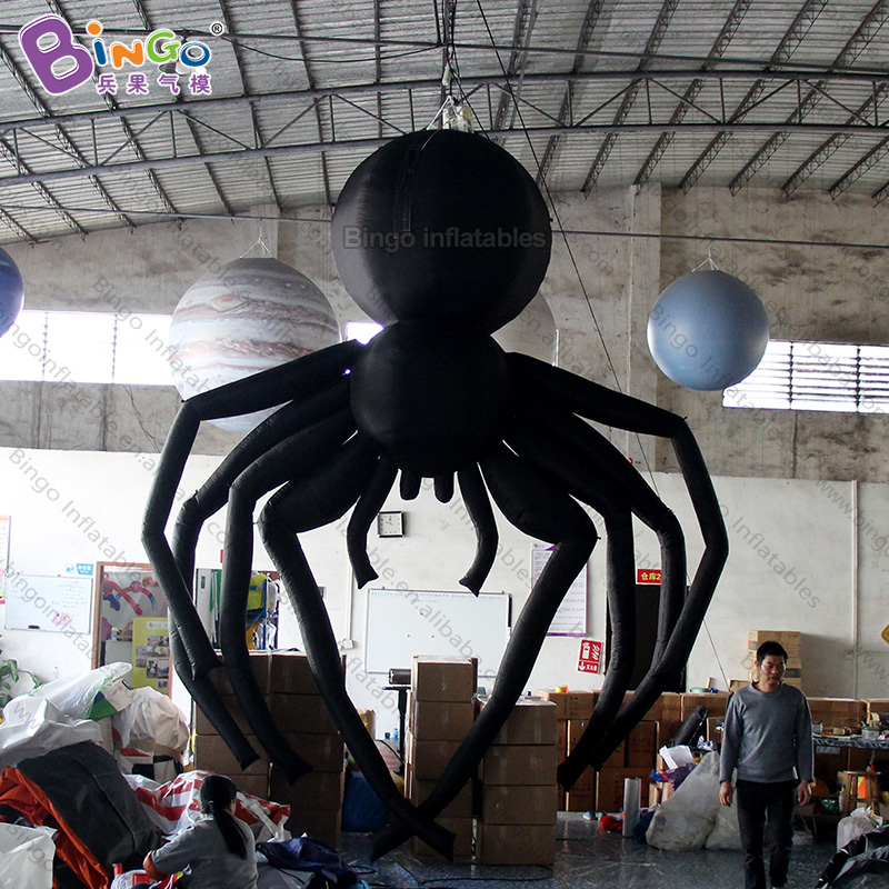 REALISTIC MODEL 5m hanging inflatable big spider blowup araneid big balloon toy Halloween decoration personalized advert displayREALISTIC MODEL 5m hanging inflatable big spider blowup araneid big balloon toy Halloween decoration personalized advert display