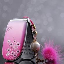 MAFAM A1 kleine frau kinder mädchen niedlich Vibration blume diamant FM MP3 MP4 Kamera Recorder mini zelle handy handy P070