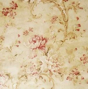 European Classic Vintage Yellow Flowers Wallpaper Tapete Roll For Living Room Bedroom Tv Sofa