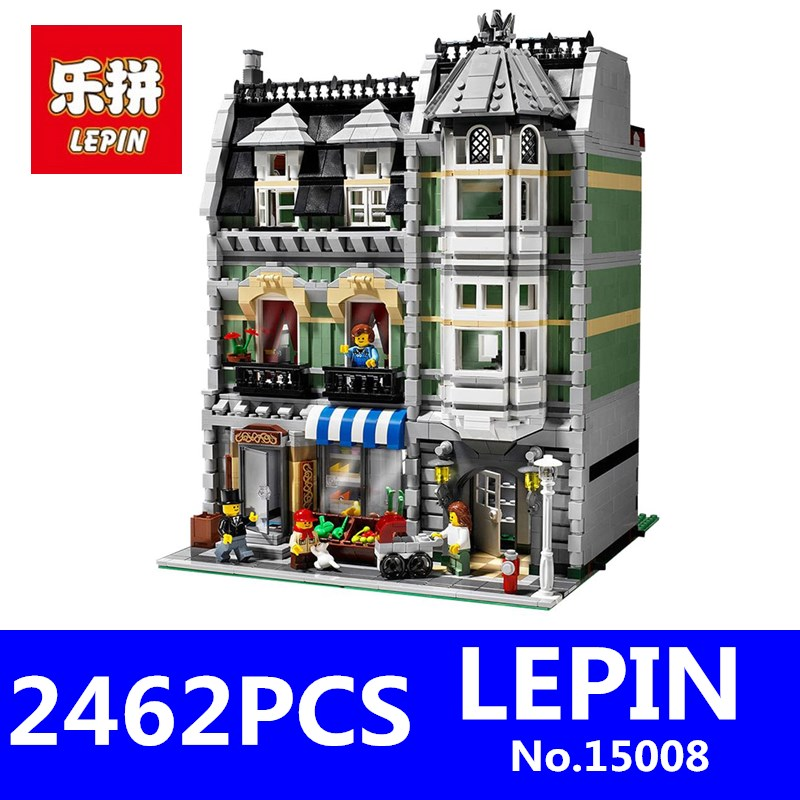 LEPIN 15008 City Street Series Creator Green Grocer Model Educational Building Blocks Bricks Kits Toys for Children Gifts 360pcs 8 25mm watch band strap link pin spring bars remover removal repair tools
