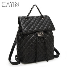купить Diamond Lattice Women Leather Backpack Casual Backpack Bag For Teenager School Travel Back Pack Female Bag Mochila Escolar по цене 890.97 рублей