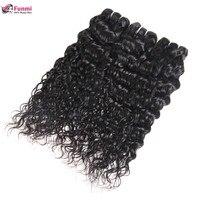 Funmi Hair Water Wave Bundles 1/3/4 Bundles Deal Raw Indian Hair Bundles 8 28 Inch Double Weft Unprocessed Virgin Hair Bundles