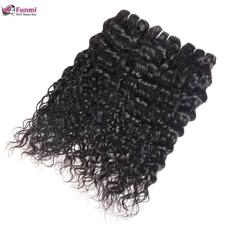 Funmi Indian Virgin Hair Bundles Unprocessed Water Wave Human Hair Bundles Natural Color Raw Indian Water Wave Hair Bundles