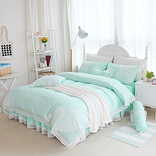 Winlife Luxurious Embroidered Lace Bedding Set Brand 100 Cotton