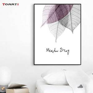 Image 5 - צבעי מים מופשט עלה בד ציורי קיר נורדי כרזות הדפסי מינימליסטי קיר אמנות תמונות לסלון חדר שינה