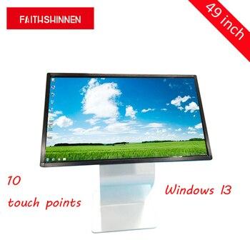 49 cal ekran dotykowy wszystko w jednym komputerze z systemem Windows I3 digital signage ekrany totem fotomaton