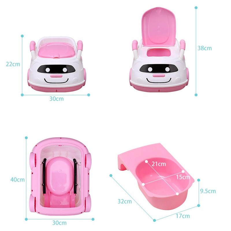 Cute Bebe Camping Car Portable Potty Child Cartoon Toilet Seat Kids Pinico WC Toilets For Boys & Girls Baby Potty Training Free 02