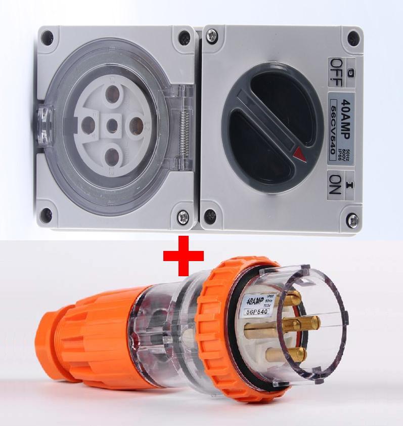Free Shipping Socket 56cv540 Plug 56p540 40a Outdoor Yard
