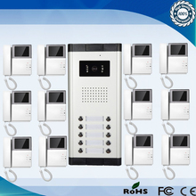 De alta Definición Cámara de Múltiples Apartamento Videoportero Sistema de Intercomunicación 1 Cámara con 12 Monitores