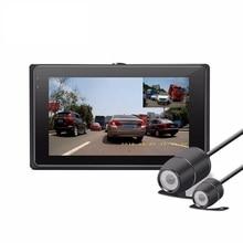 Новинка 2017 года 3 дюймов T2 мотоциклов DVR 1080 P FHD мотоцикл видеомагнитофон двойной передней линзы и камера заднего вида Поддержка GPS ДЮСШ Cam