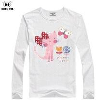 DMDM PIG детская футболка Дети Мальчики Одежды Девочка Одежда Костюмы Блузка Топы С Длинным рукавом футболки для девочек футболки