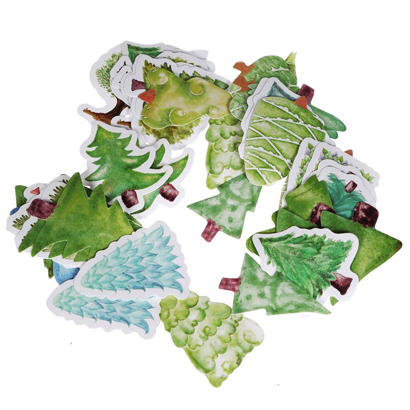45Pcs/Set Lovely Forest Of Christmas Decorative Stationery Stickers DIY Diary Album Scrapbooking Decoration Free Shipping