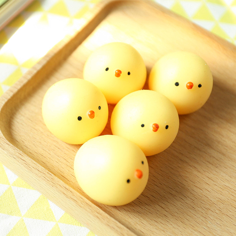 Trend Mark New 1pcs Kawaii Japan Mochi Yellow Chicken Squeeze Stretchy Decompress Phone Strap Accessories Simsimi Kids Toy Toys & Hobbies