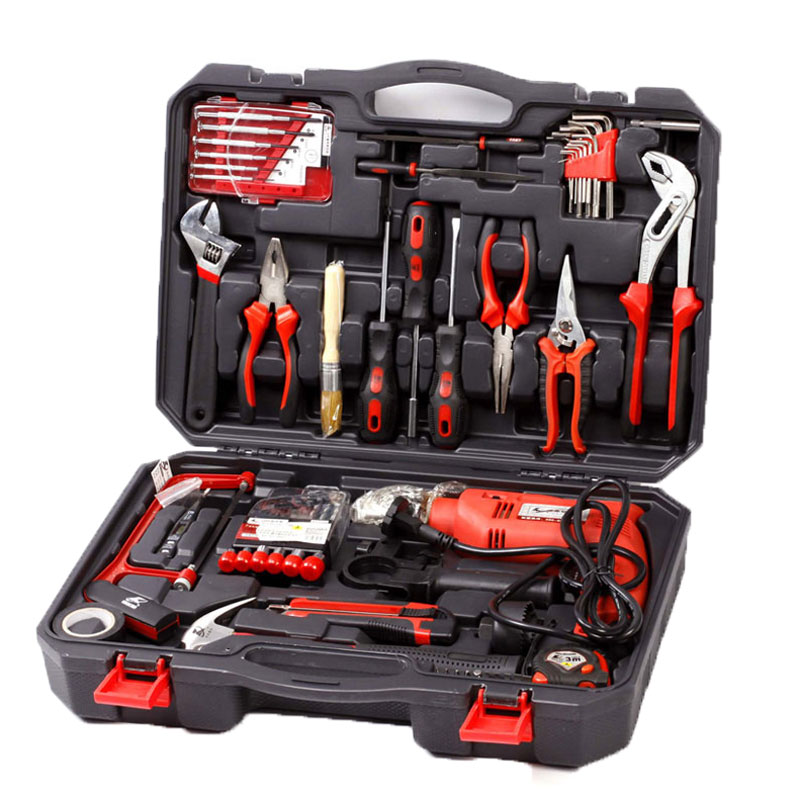 71 in 1 Household Hand Tool Kit Hammer Plier Screwdriver Knife Wrench Electric drill Repair Hand Tools Set Woodworking Tools