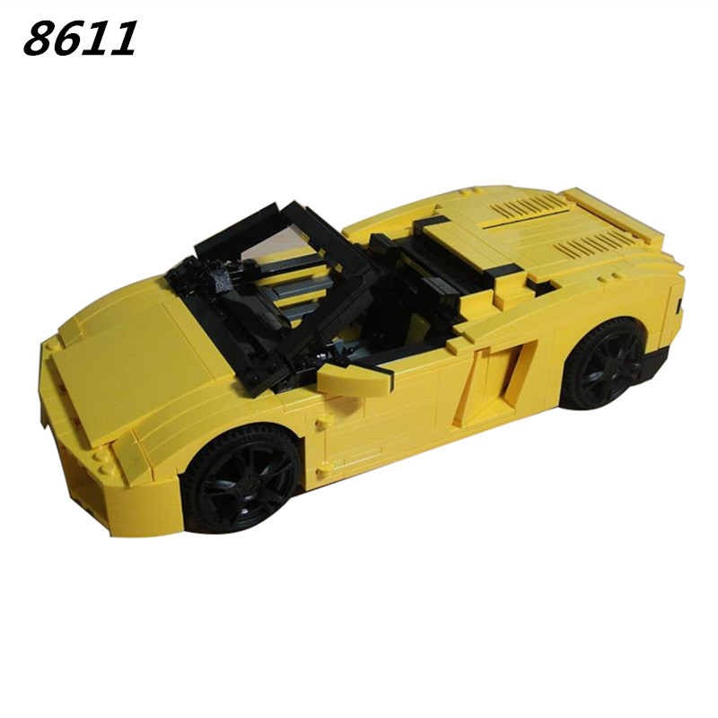 8611 LP560-4 741pcs Technic Racing Sports Car Building Blocks Compatible 8169 Brick Toys For Children 011 Compatible  8169 phil collins singles 4 lp