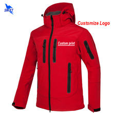 Custom Print New Softshell Jacket Men Waterproof Fleece Thermal Outdoor Hooded Hiking Coat Ski Trekking Camping Hoodie Clothing