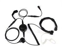 Militaire Politie-uitrusting Throat Mic Air Tube Headset voor Kenwood F48 3207 Baofeng UV-5R 2 Pin Walkie talkie CB Twee manier Radio