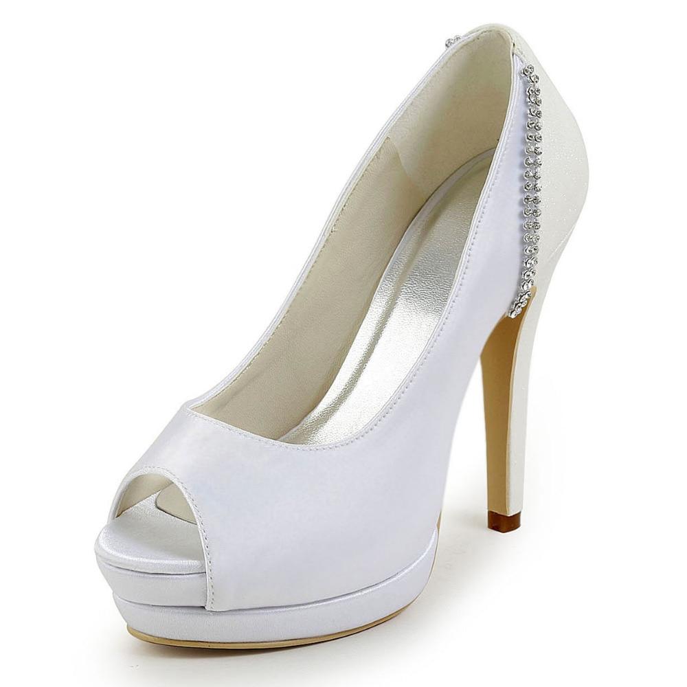 ФОТО Free Shipping EP2070-IPF  Peep Toe Platform Stiletto Heel Rhinestone Satin Glitter Patchwork Wedding Bridal Shoes