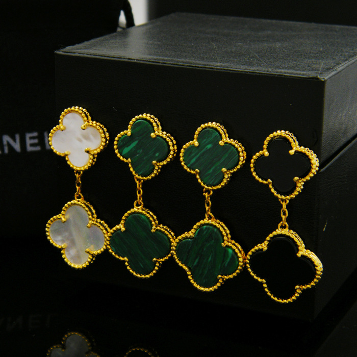 green clover fashion dangle earrring for women ...