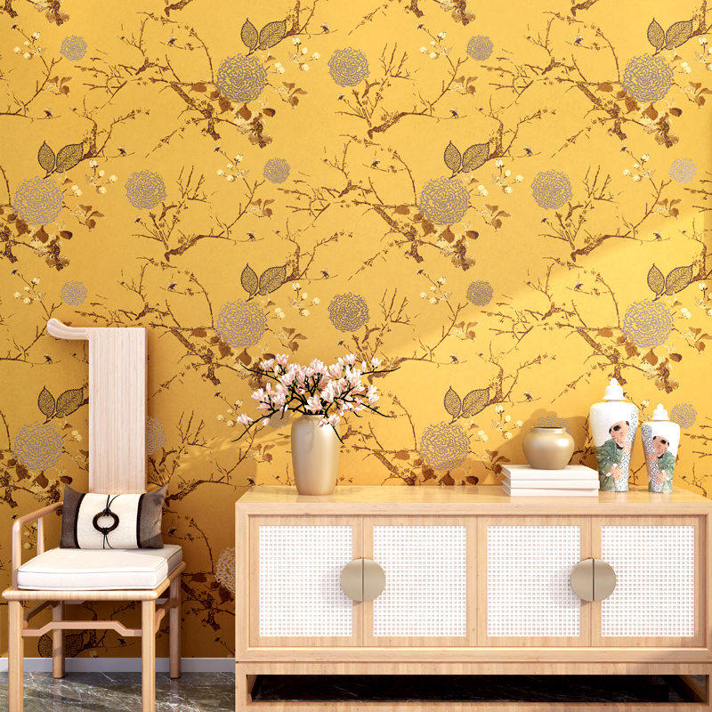 Chinese Style Flower Bird Classical Wallpaper Modern 3D Non-woven Wall Paper For Living Room TV Sofa Bedroom Backdrop Wall Decor custom 3d wallpaper mural chinese style flower and bird wallpaper restaurant living room bedroom sofa tv wall papel de parede