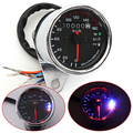 Universal Motorcycle LED Dual Odometer Test Miles Speedometer Gauge With a Highlight LED Back Light