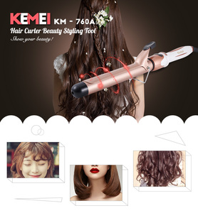 Kemei KM-760A rizar el cabello rizador varita belleza palpadores de pelo Pelo alipearl... Isee Hair mechones eléctrica de cerámica de Curling