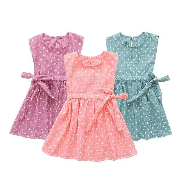 caadea0ac3ac 2018 Summer Hot Sale Baby Girls Cute Dress Children Kids Sleeveless  Princess Dress+Head Band For Gift Newly Fashion Clothing LW