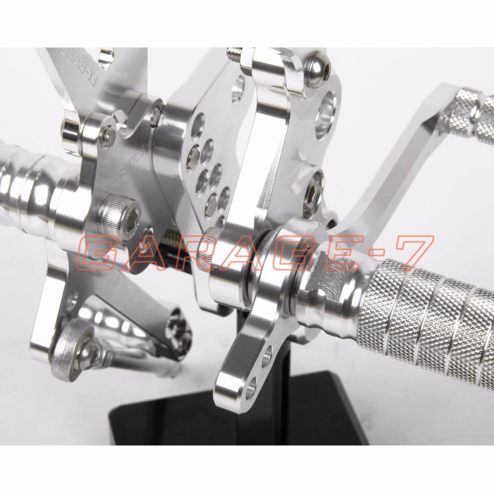Rearsets Foot Rests Rear Set For SUZUKI GSXR 1300 Hayabusa 1999-2007 Hayabusa  Motorcycle Foot Pegs A New Silver CNC Adjustable