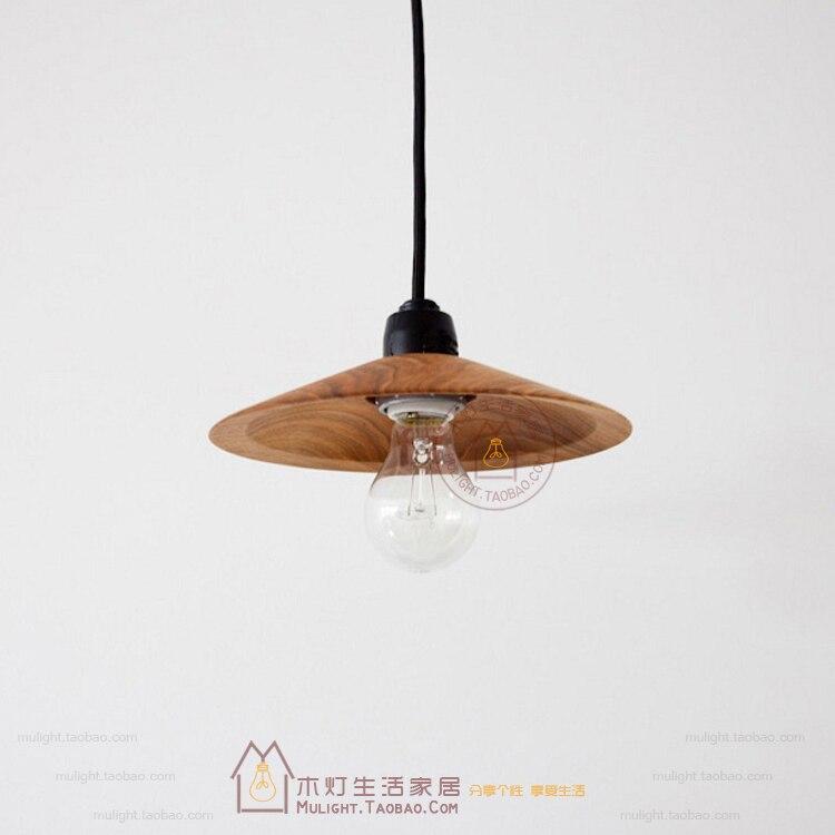 ФОТО Vintage Style Wood Mini Droplight Antique Decorative Pendant Ceiling Lamp