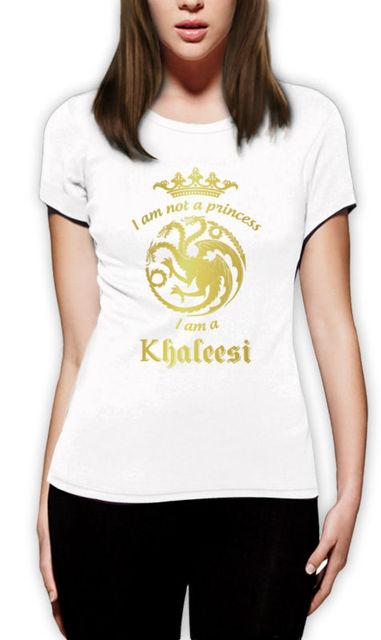 Game of Thrones Khaleesi Casual O-neck Cotton Women's T-shirt