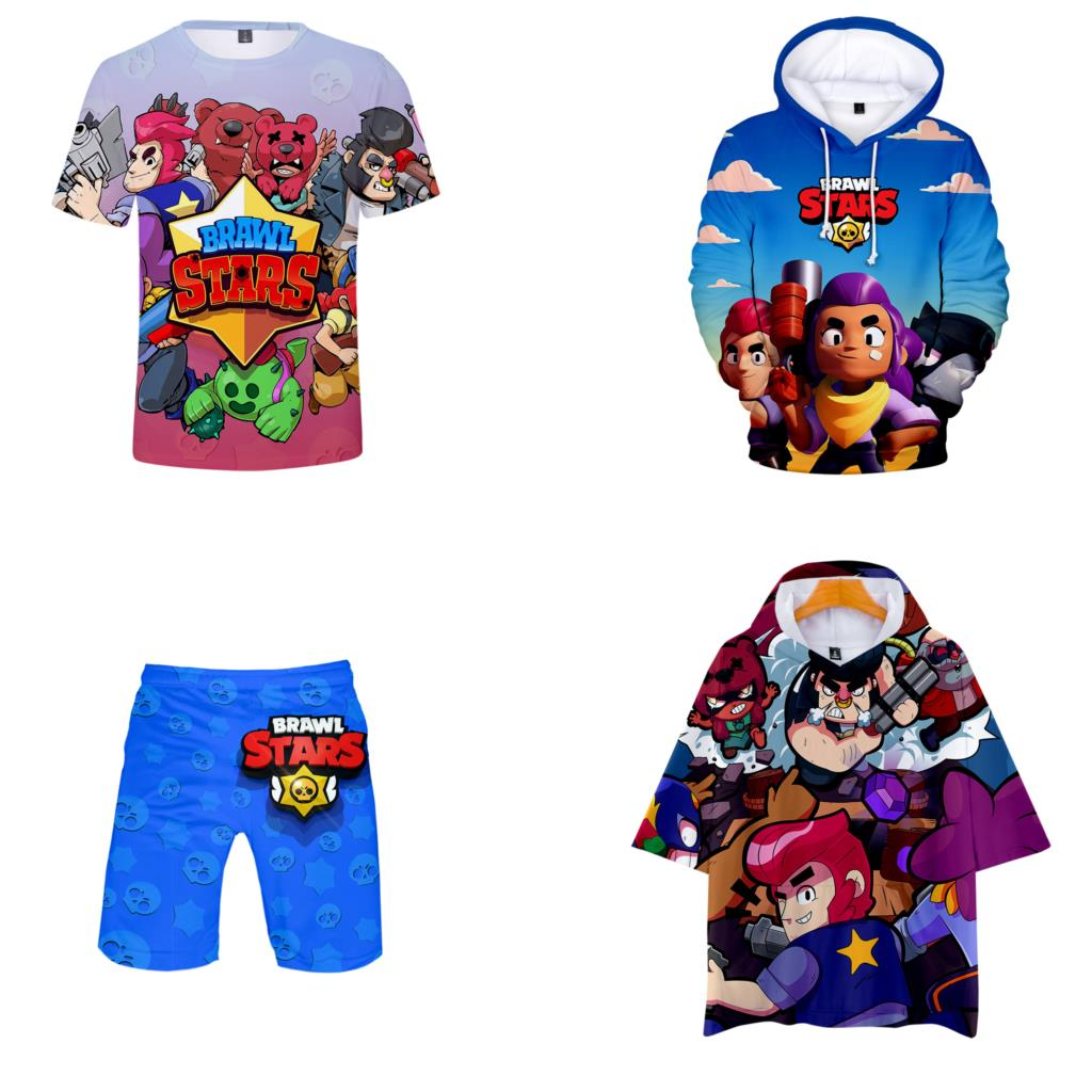 Hot game BRAWL STARS tshirts hot sale Costumes 2019 new harajuku   t     shirt   suit clothes shorts