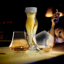 RUIDA Crystal Wine Glass Head Bottle Vodka Beer Whiskey Shot Cup Bar Home Drinkware 1 Pieces