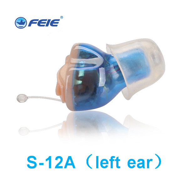 Feie Digital hearing aid CIC in-ear earphones 4 Channels Voice Amplifiers Ear Amplifier aide auditive Free Shipping S-12A free shipping ebay europe all product super quiet high power cic hearing aid s 17a