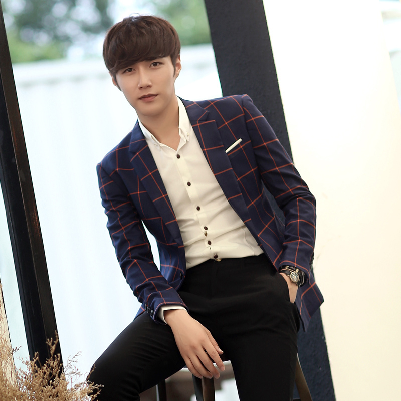 2015 New Men's Handsome Fashion Small Suit Jacket Suits