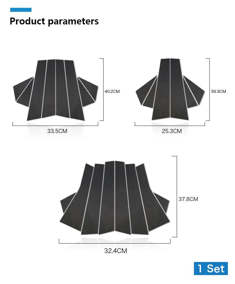 Mini Cooper F55 Countryman F60 Clubman F54 Accessories Carbon Fiber B Pillar Cover Trim Window Protection Stickers (10)
