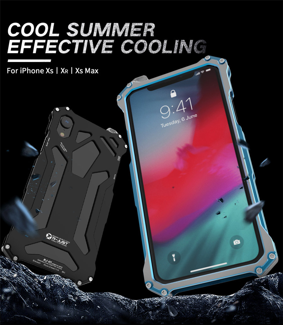 Cool Metal Phone Case For iPhone XS Max Case Cover For iPhone XS R-JUST Gundam Aluminum Case Coque Capa Funda For iPhone XR (1)