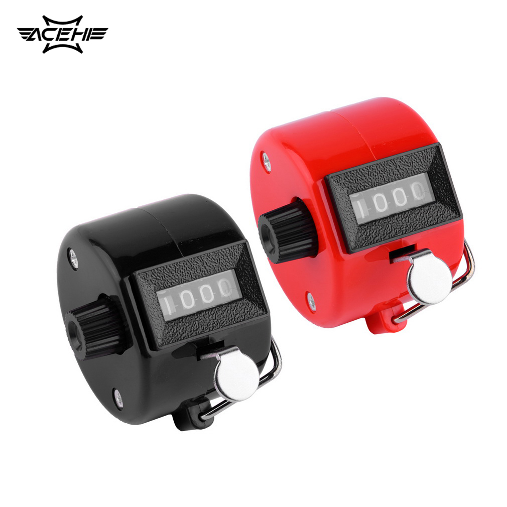 ACEHE Mini 4 Digit Hand Tally Counter Digital Manual Counting Tally Finger Clicker for Sports Golf Training