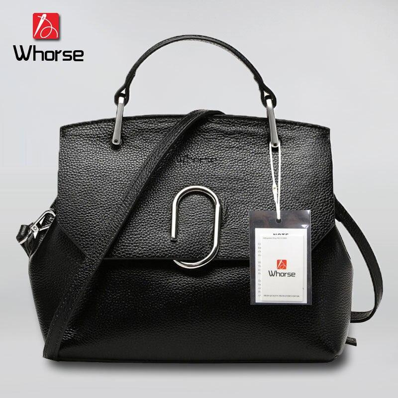 ФОТО [WHORSE] Brand Logo Designer 2017 Women's Genuine Leather Fashion Single Shoulder Bag Women Crossbody Bags Handbags For Ladies