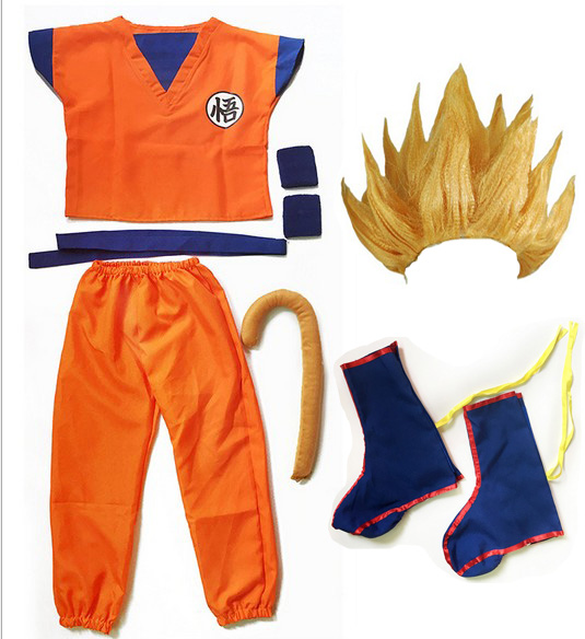 Dragon Ball Z Clothes Suit Son Goku Costume  4