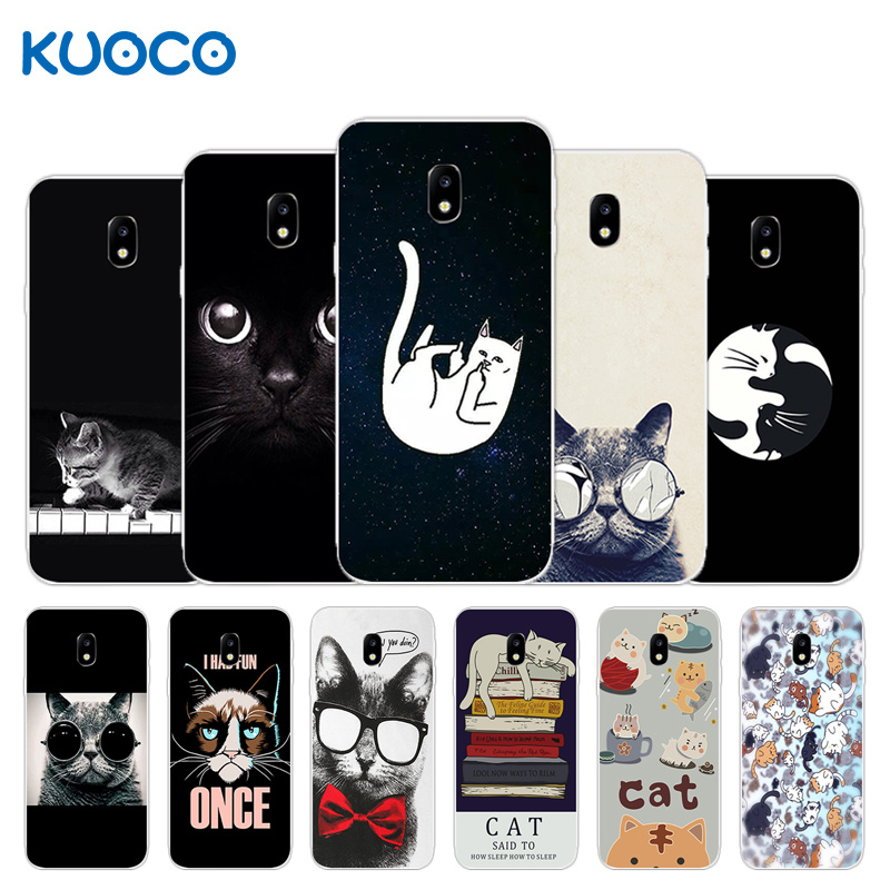 Galleria fotografica Phone Case For Samsung Galaxy J3 2017 J330F J3 Pro 2017(EU Version) Dif Cat Design Soft Silicone Back Cover for J3 2017 J330