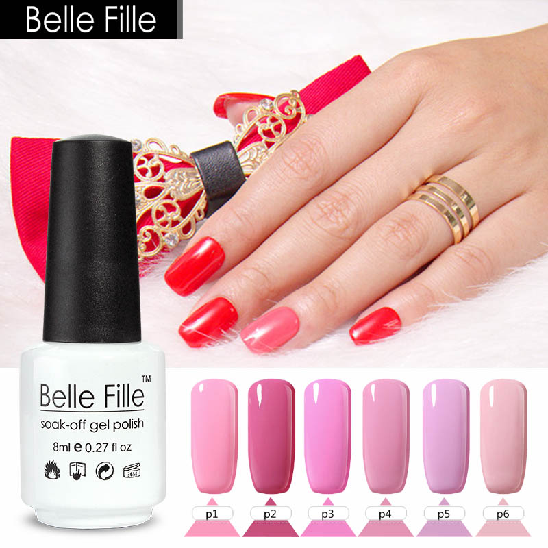 Belle Fille 8 Ml Rose Série Couleur Manteau Gel Vernis à