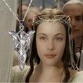 2017 moda jóias de prata banhado a cadeia de cristal colar hobbit o Senhor do crepúsculo estrela colar pedante Colar para as mulheres