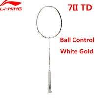 Li Ning ракетки для бадминтона турбонаддувом 7II TD мяч Тип управления Li Ning Профессиональный ракетки белого золота AYPM318 L852OLA