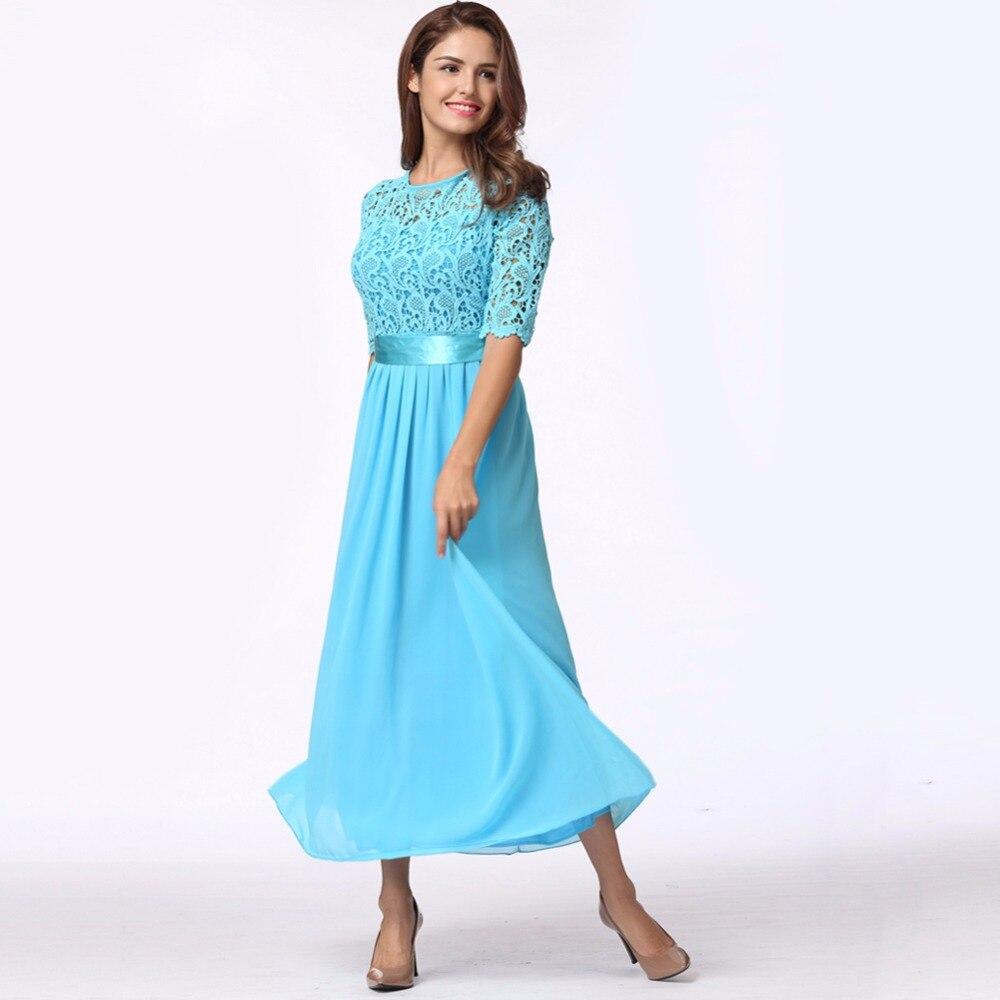 5XL Plus Size Maxi Long Dresses Women Lace Dress Chiffon Dress Long ...