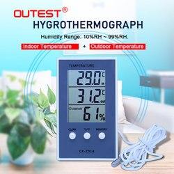 CX-201A Digital Thermometer Hygrometer Indoor/Outdoor Fisch Tank Temperatur Feuchtigkeit meter Wetter Station Tester smail oder cry