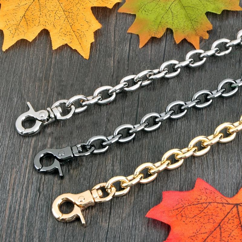 DIY 40cm-160cm 9mm Gold, Gun Black, Silver Replacement Chain Shoulder Crossbody Strap For Handbags Handles O Shaped Chains