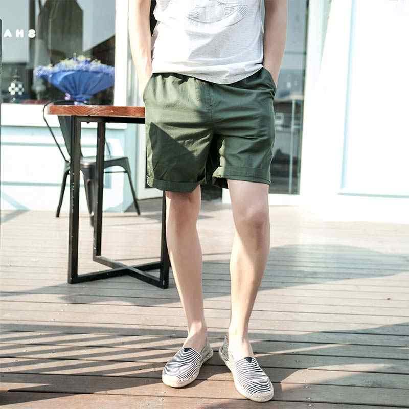 Bawełna spodenki na co dzień w pasie lato plaża cukierki kolor mężczyzna kobiet miłośników krótkie spodnie SSA-19ING