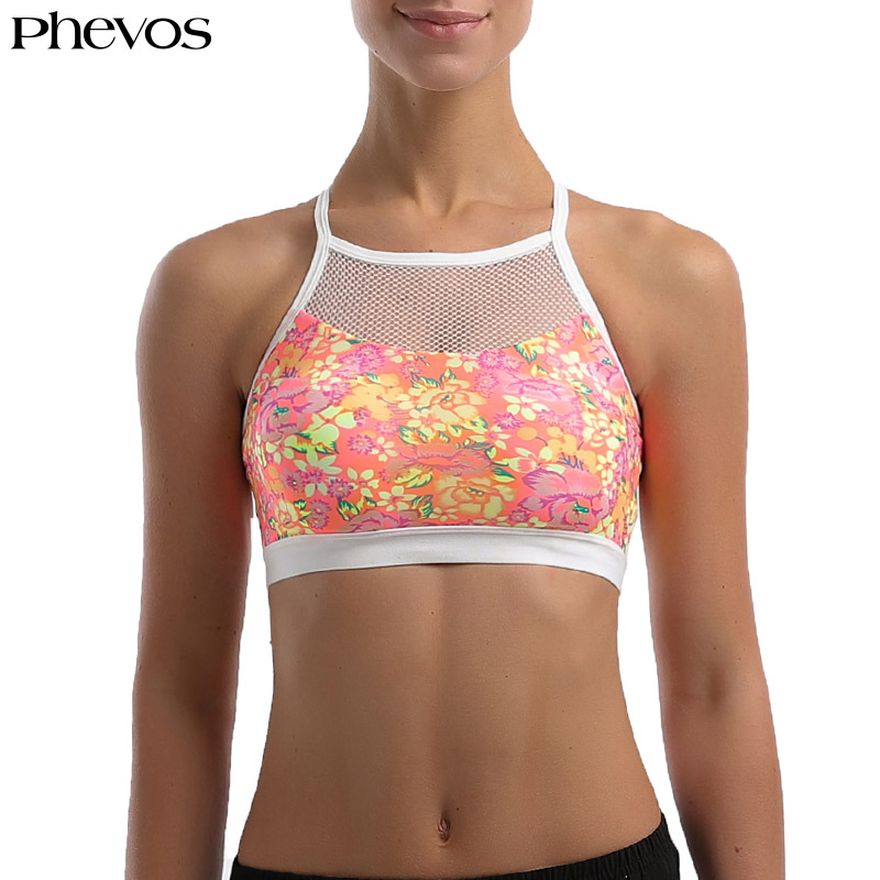 Phevos Sexy Breathable Mesh Sports Bra Quick Dry Fitness Women Sport Brassiere for Gym Adjustable Female Yoga Bras Top 1903 crazyfit mesh hollow out sport tank top women 2018 shirt quick dry fitness yoga workout running gym yoga top clothing sportswear