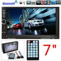 Double Din Car Video Player 7 Polegada HD Tela de Toque Do Bluetooth MP5 Player Suporte rádio Áudio Estéreo AUX FM USB MMC Remoto controle
